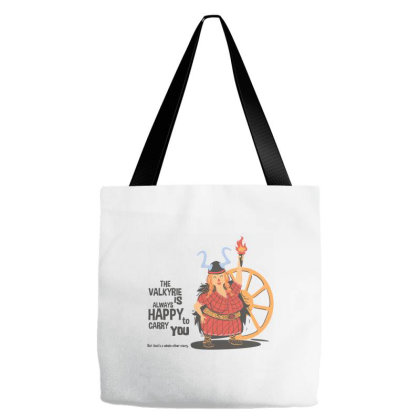 The Valkyrie Is Always Happy To Carry You Tote Bags Designed By Kahvel