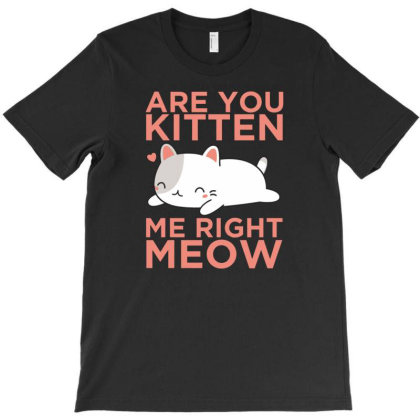 Are You Kitten Me Right Meow T-shirt Designed By Cloudystars