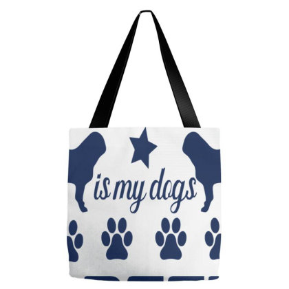Rescue Is My Dogs Breed Tote Bags Designed By Cloudystars
