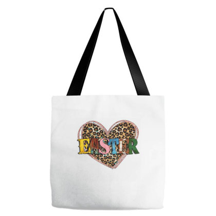 Easter Leopard Heart Tote Bags Designed By Badaudesign