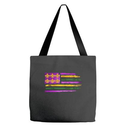 Mardi Gras Flag Tote Bags Designed By Badaudesign
