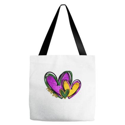 Mardi Gras Heart Tote Bags Designed By Badaudesign
