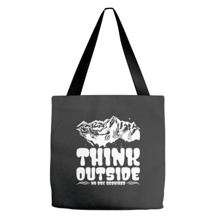 Think Outside No Box Required Tote Bags Designed By Badaudesign