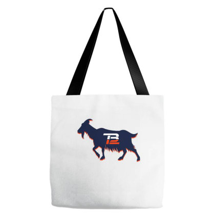 Tom Brady Tb12 Goat Crop Top Tote Bags Designed By Badaudesign