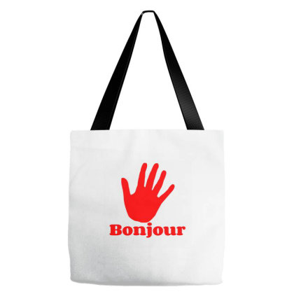 Bonjour Tote Bags Designed By Artmaker79