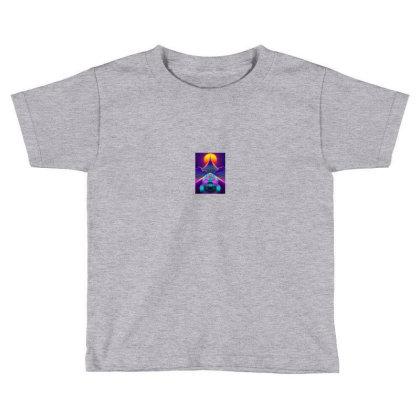 Outrun Retrowave Merch Toddler T-shirt Designed By Bambangtriadmaja