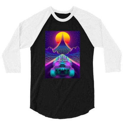 Outrun Retrowave Merch 3/4 Sleeve Shirt Designed By Bambangtriadmaja