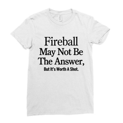 Fireball Ladies Fitted T-shirt Designed By Yay Store