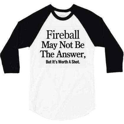 Fireball 3/4 Sleeve Shirt Designed By Yay Store
