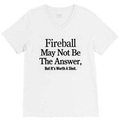 Fireball V-neck Tee Designed By Yay Store