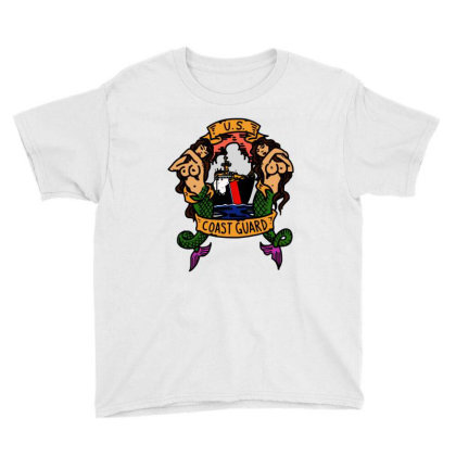 Coast Guard Youth Tee Designed By Trendtee
