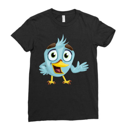 Charming Bird Ladies Fitted T-shirt Designed By Chiks