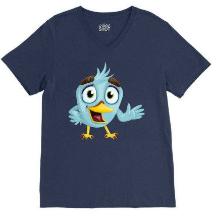 Charming Bird V-neck Tee Designed By Chiks