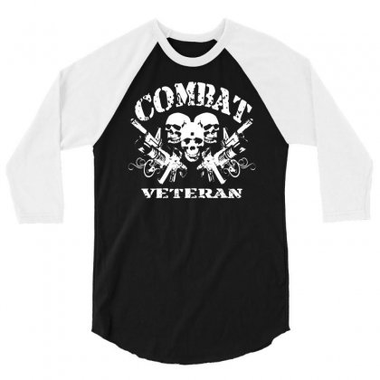 Combat Veteran 3/4 Sleeve Shirt Designed By Gematees