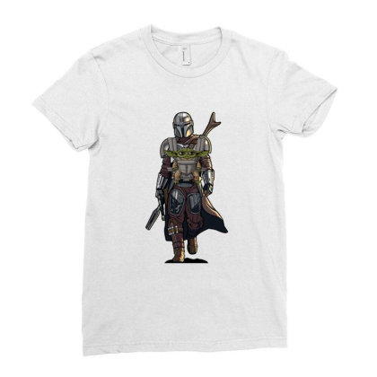 Baby Yoda Mandalorian Ladies Fitted T-shirt Designed By Coşkun