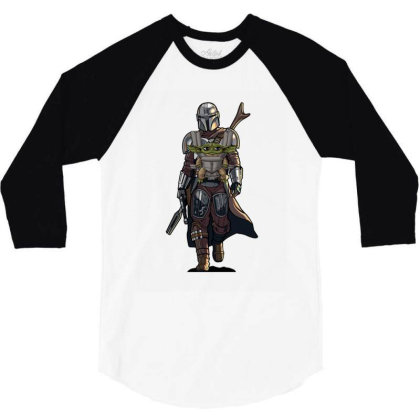 Baby Yoda Mandalorian 3/4 Sleeve Shirt Designed By Coşkun