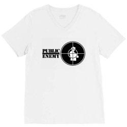 public enemy logo V-Neck Tee | Artistshot