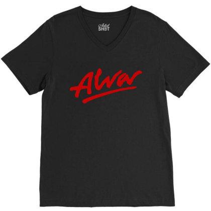 Alva Logo V-neck Tee Designed By Best Seller