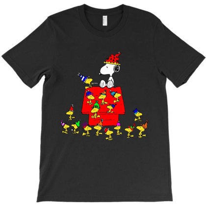 Funny Party And Woodstock Cartoon Meme T-shirt Designed By Top Seller
