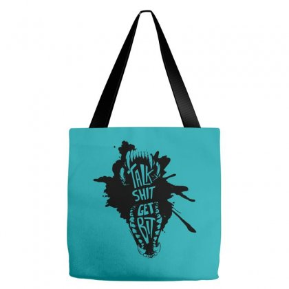 Talk Shit Get Bit Tote Bags Designed By Specstore