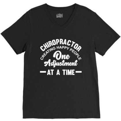 Chiropractor Treatment Pride Profession V-neck Tee Designed By L4l4pow