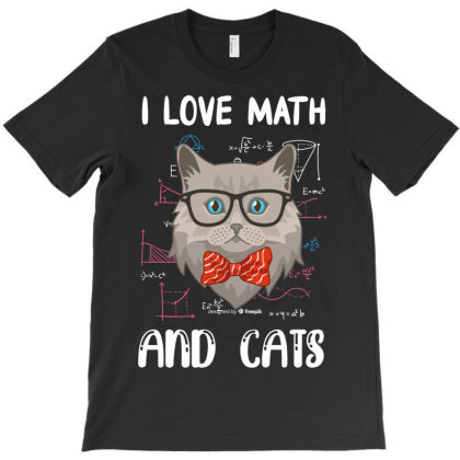 I Love Math And Cats T-shirt Designed By Rardesign