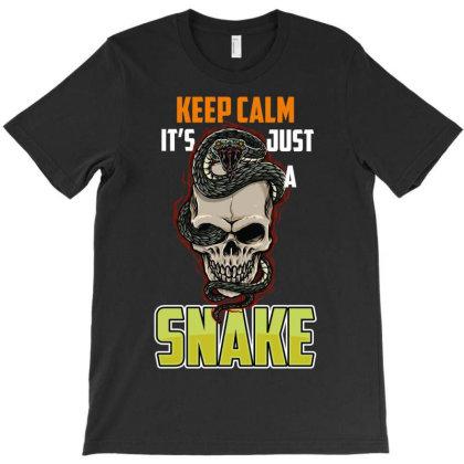 Keep Calm Snake T-shirt Designed By Rardesign