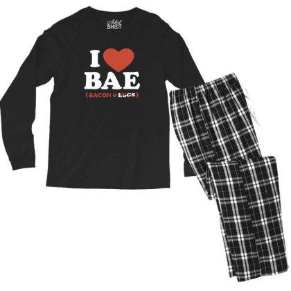 I Heart Bae Men's Long Sleeve Pajama Set Designed By Prakoso77