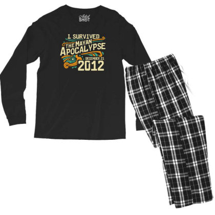 I Survived The Mayan Apocalypse Men's Long Sleeve Pajama Set Designed By Prakoso77