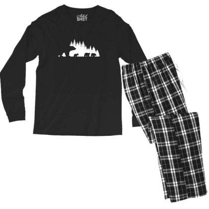 Mama Bear And Cubs Men's Long Sleeve Pajama Set Designed By Blackstone