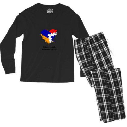 Armenian Flag Men's Long Sleeve Pajama Set Designed By Yunis Putriasa