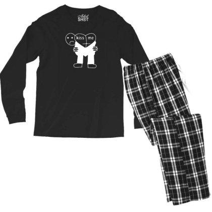 Kiss Me Men's Long Sleeve Pajama Set Designed By Prakoso77