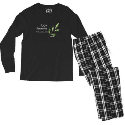 Four Seasons Total Landscaping Merch Men's Long Sleeve Pajama Set Designed By Ratna Tier