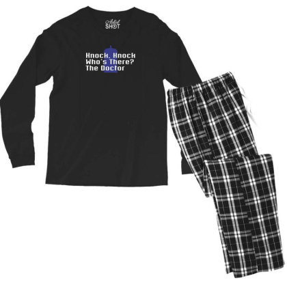 Knock Knock! Who's There The Doctor Men's Long Sleeve Pajama Set Designed By Prakoso77