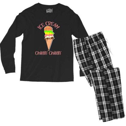 Ice Scream Parody Men's Long Sleeve Pajama Set Designed By Ratna Tier