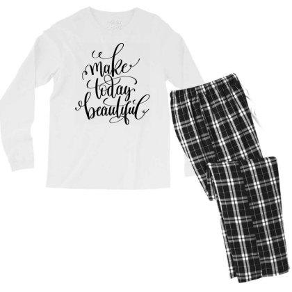 Make Today Beautiful Men's Long Sleeve Pajama Set Designed By Kahvel