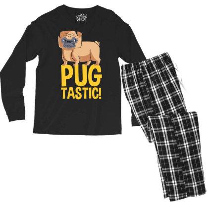 Pug Tastic! Men's Long Sleeve Pajama Set Designed By Kahvel
