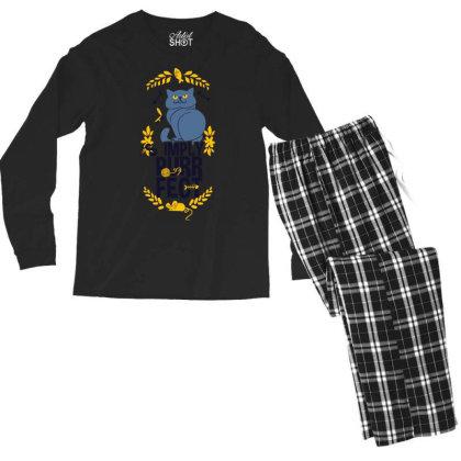 Simply Purrfect Men's Long Sleeve Pajama Set Designed By Kahvel