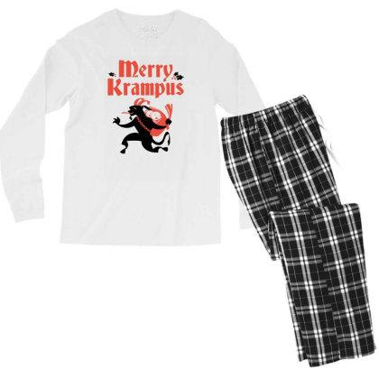 Merry Krampus Men's Long Sleeve Pajama Set Designed By Prakoso77