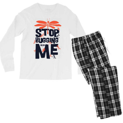 Stop Bugging Me Men's Long Sleeve Pajama Set Designed By Kahvel