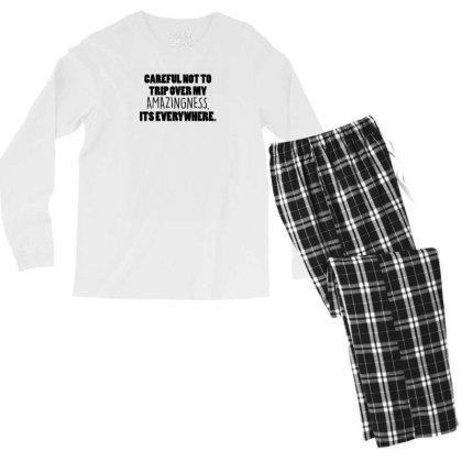 My Amazingness Is Everywhere Men's Long Sleeve Pajama Set Designed By Prakoso77