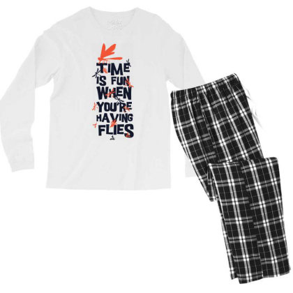 Time Is Fun When You're Having Flies Men's Long Sleeve Pajama Set Designed By Kahvel