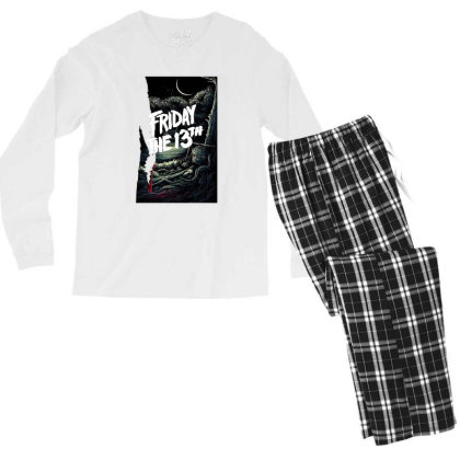 Friday The 13th Original Merch Men's Long Sleeve Pajama Set Designed By Ratna Tier