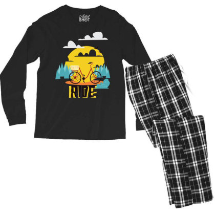 Morning Ride Men's Long Sleeve Pajama Set Designed By Kahvel