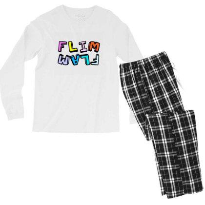 Flam Flim Flam Flamingo Men's Long Sleeve Pajama Set Designed By Ratna Tier