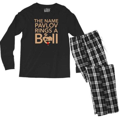 The Name Pavlov Rings A Bell Men's Long Sleeve Pajama Set Designed By Prakoso77