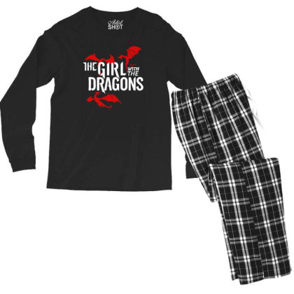 The Girl With The Dragons Men's Long Sleeve Pajama Set Designed By Prakoso77