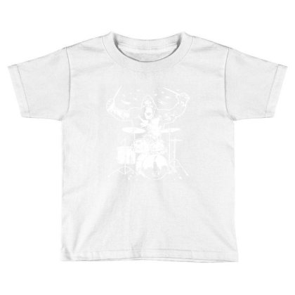 King Kong Playing Drums 01 Toddler T-shirt Designed By Wowotees