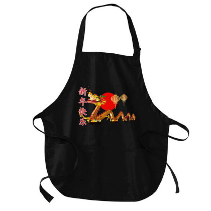 Happy Chinese New Year Medium-length Apron Designed By Akin