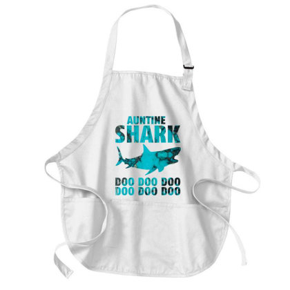 Auntie Shark Medium-length Apron Designed By Badaudesign